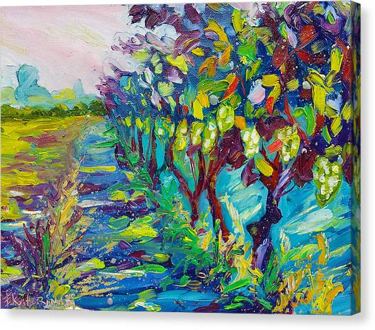 Grape Vines Painting Canvas Print