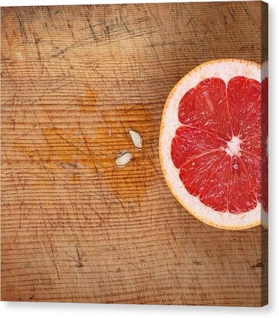 Grapefruits Canvas Print - #grapefruit #korea by Joe Wabe