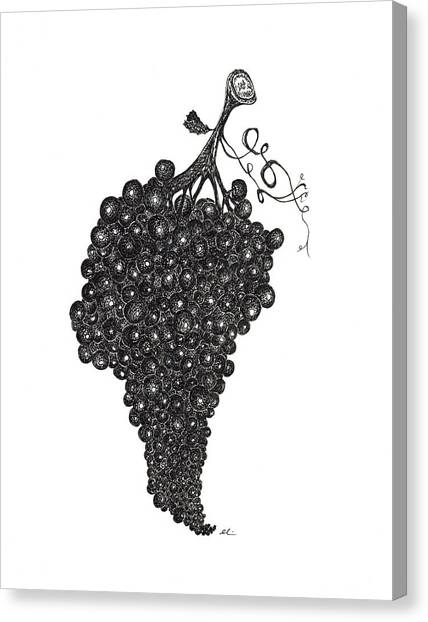 Grapefull Greetings Canvas Print