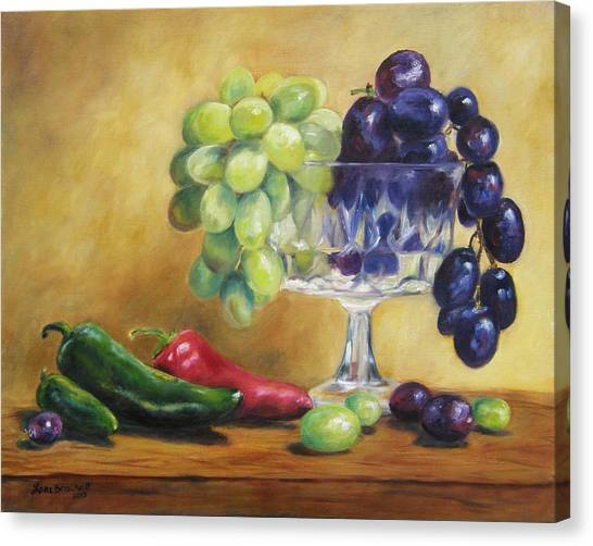 Grapes And Jalapenos Canvas Print