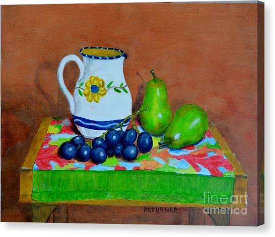 Grapes And Pairs Canvas Print