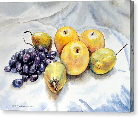 Grapes And Pears Canvas Print