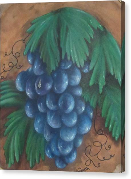 Grapes With Dewdrop Canvas Print