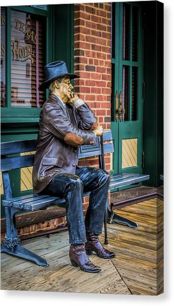 Canvas Print featuring the photograph Grapevine Cowboy by Robert Bellomy