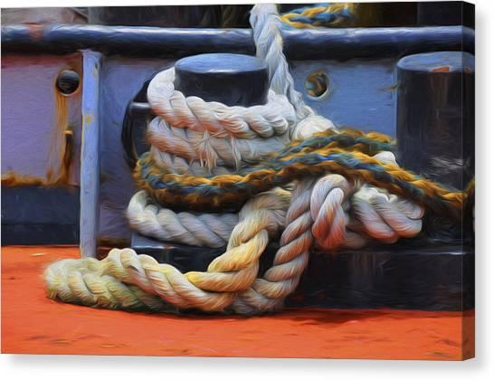 Grasping At Ropes Canvas Print