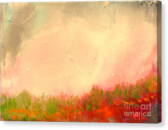 Grass Fire Canvas Print