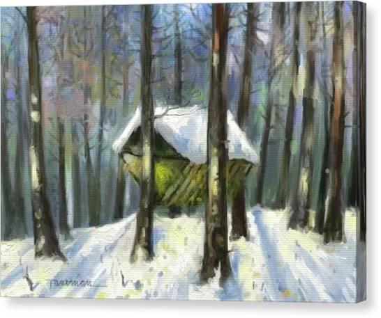 Grass For Deer Canvas Print by Tancau Emanuel