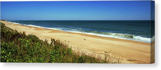 Montauk Canvas Print - Grass On The Beach, Montauk Point by Panoramic Images