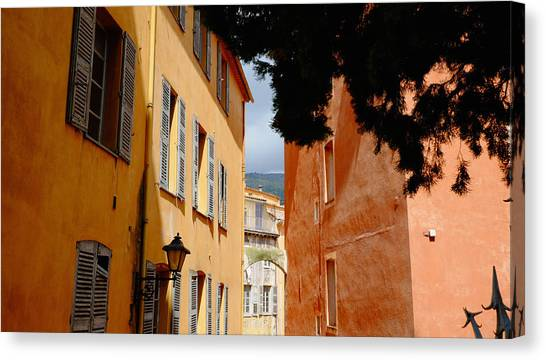 Grasse Alley France Canvas Print