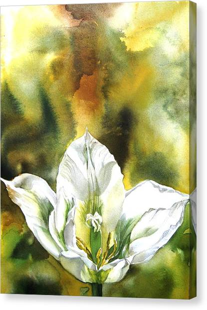 Grasshopper Tulip Canvas Print