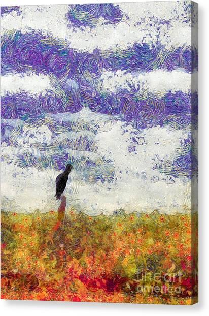 Grassland Sentry Canvas Print
