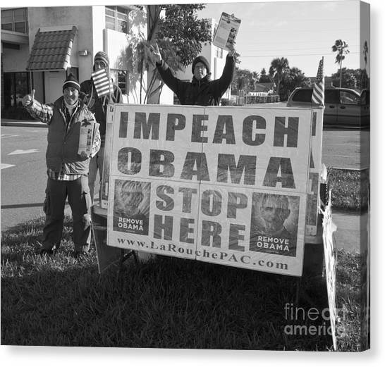 Obamacare Canvas Print - Grassroots Impeach Obama Movement by Allan  Hughes