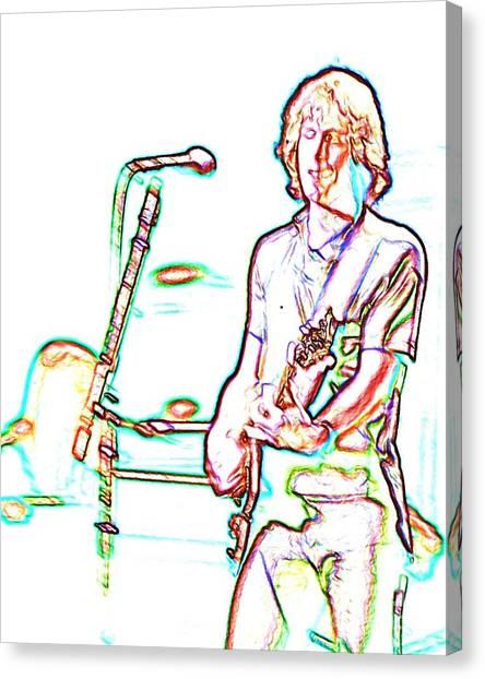 Midnite Canvas Print - Grateful Dead - Bob Weir - Looks Like Rain by Susan Carella