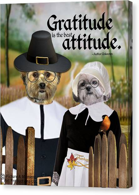 Gratitude Is The Best Attitude-1 Canvas Print