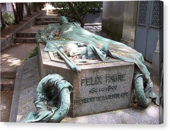 Grave Of Felix Faure  Canvas Print