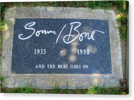 Bono Canvas Print - Grave Of Sonny Bono by Randall Weidner