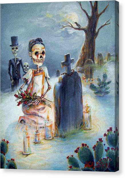 Grave Sight Canvas Print