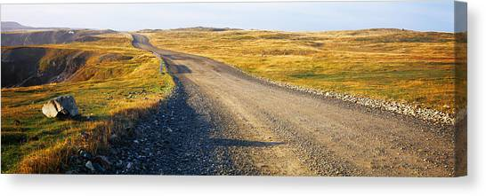 Newfoundland And Labrador Canvas Print - Gravel Road Passing by Panoramic Images