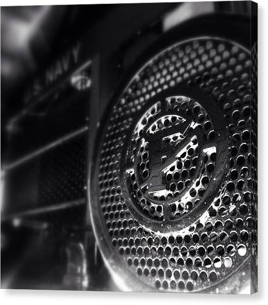 Firefighters Canvas Print - #grawler On Front Of Engine 52 #federal by James Crawshaw