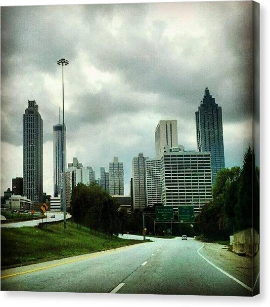 Interstates Canvas Print - Gray Atlanta Afternoon by Christine Barrett