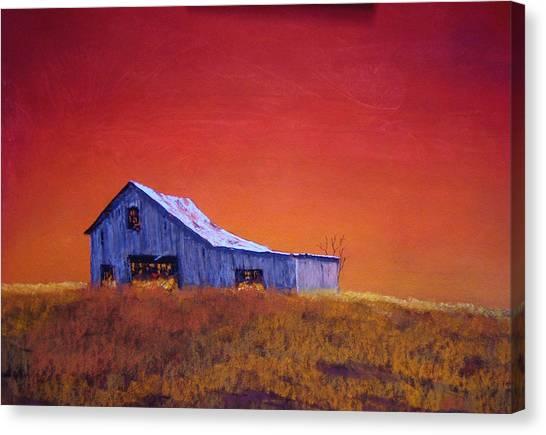 Gray Barn Canvas Print