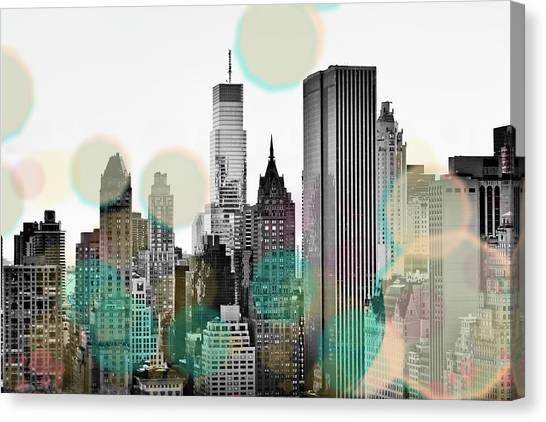 Beam Canvas Print - Gray City Beams by Susan Bryant
