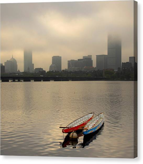 Gray Day On The Charles River Canvas Print