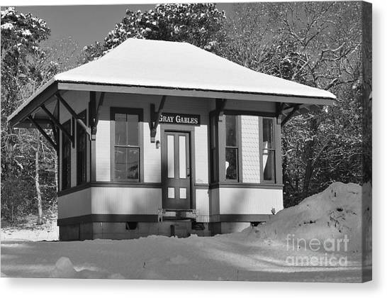 Catherine Reusch Daley Fine Artist Canvas Print - Gray Gables Train Station by Catherine Reusch Daley