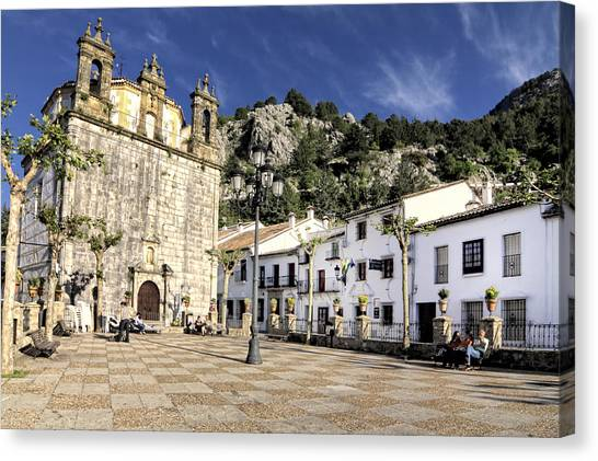 Grazalema Town Hall Square Canvas Print