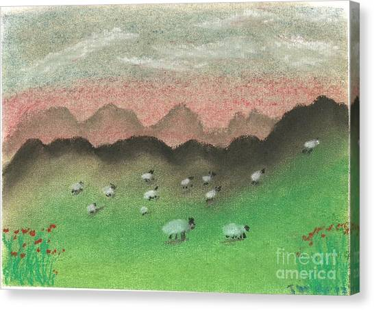 Grazing In The Hills Canvas Print