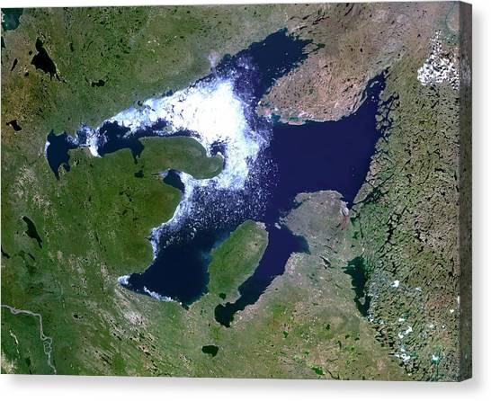Northwest Territories Canvas Print - Great Bear Lake by Planetobserver/science Photo Library