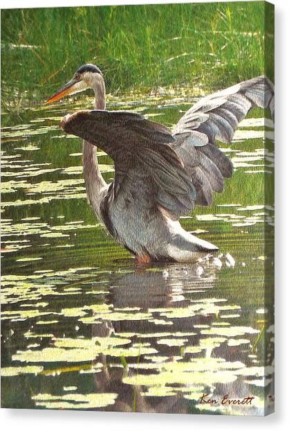England Artist Canvas Print - Great Blue Heron by Ken Everett