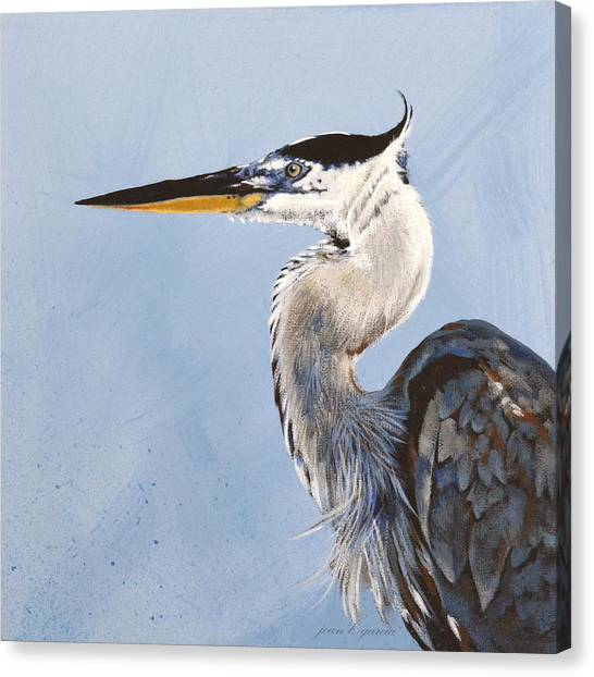 Great Blue II Canvas Print