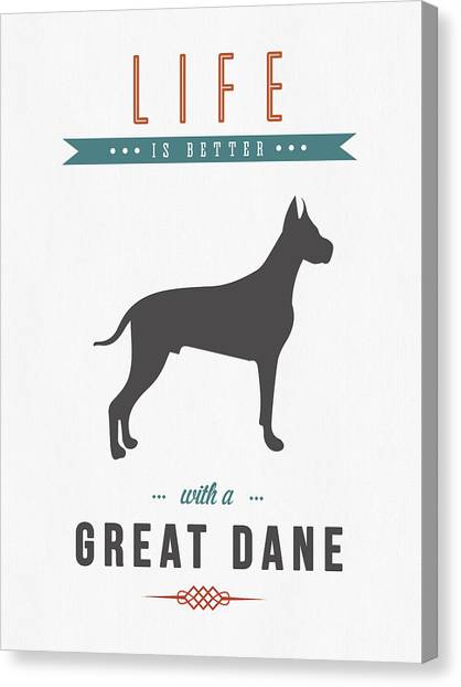 Great Danes Canvas Print - Great Dane 01 by Aged Pixel