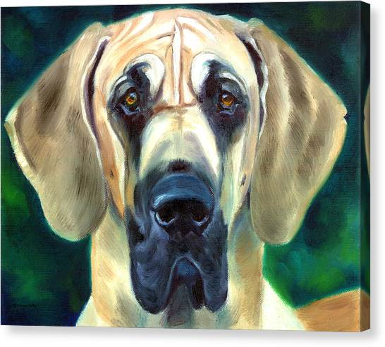 Great Danes Canvas Print - Great Dane Nobility by Lyn Cook
