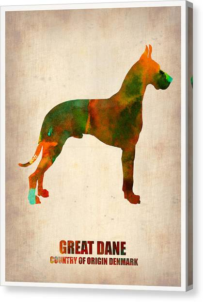 Great Danes Canvas Print - Great Dane Poster by Naxart Studio