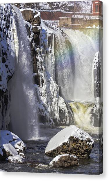 Great Falls And A Rainbow Canvas Print