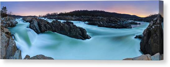 Great Falls By Full Moon Canvas Print by Andrew Fritz