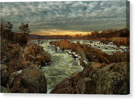 Great Falls Virginia Winter 2014 Canvas Print