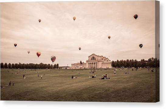 Great Forest Park Balloon Race Canvas Print