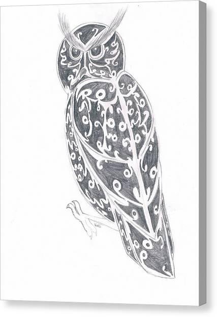 Great Horned Owl  Canvas Print by Kali Kardsbykali