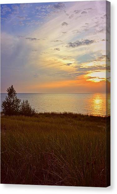 Great Lake Great Sunset Canvas Print