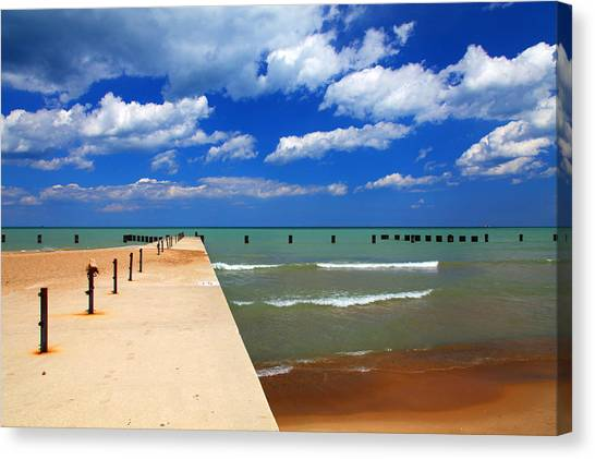 Great Lake Horizon Clouds Canvas Print