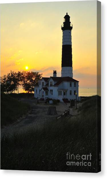 Great Lakes Lighthouse Big Sable Point Canvas Print