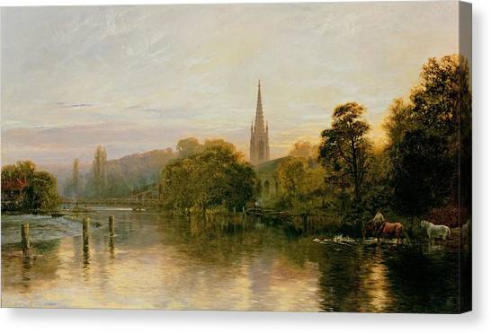 Peace Tower Canvas Print - Great Marlow by George Vicat Cole