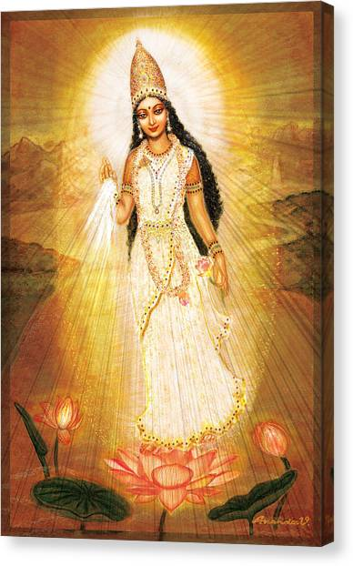 Great Mother Goddess Canvas Print by Ananda Vdovic
