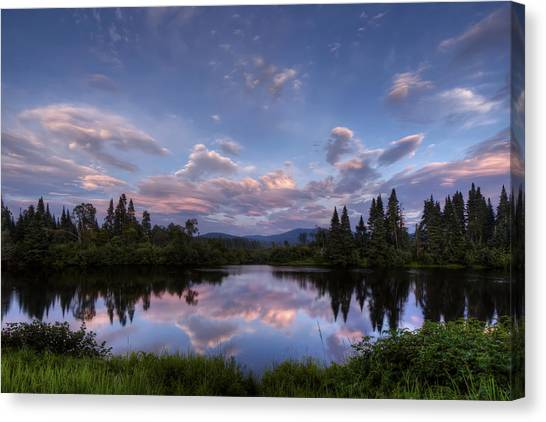 Great North Woods Sunset In New Hampshire Canvas Print