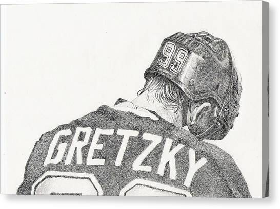 Wayne Gretzky Canvas Print - Great by Paul Smutylo