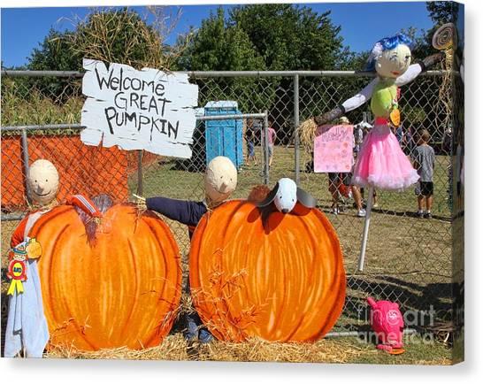 Corn Maze Canvas Print - Great Pumpkin By Diana Sainz by Diana Raquel Sainz