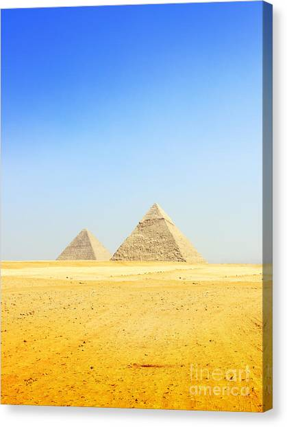 Great Pyramid Of Giza Canvas Print